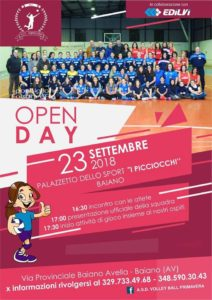 Open Day con l A.S.D. VOLLEY BALL PRIMAVERA