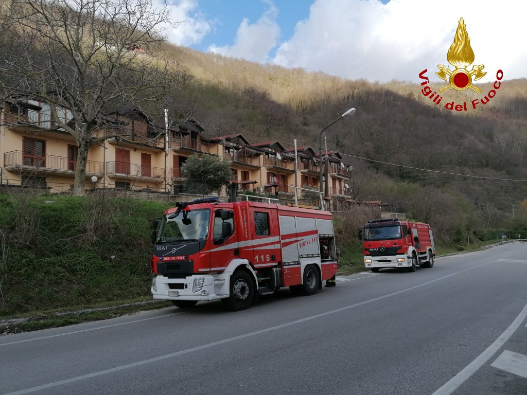 MONTEFORTE. Incendio in una villetta