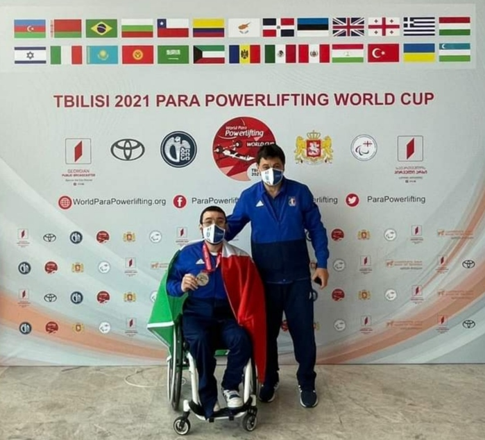 PARA POWERLIFTING.  Peppe Colantuoni argento alla World Cup di Tbilisi